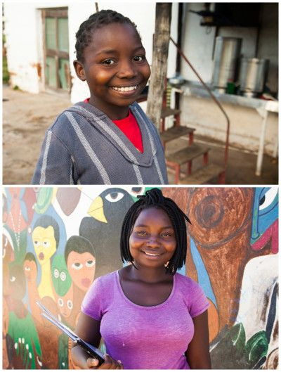 Atalia, ahijada de la Fundación Khanimambo