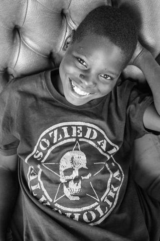 Chico, ahijado de la Fundación Khanimambo