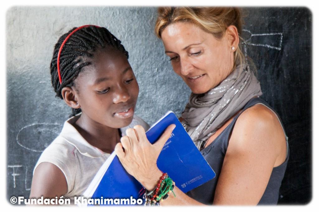 Maite Fernández, voluntaria en la Fundación Khanimambo
