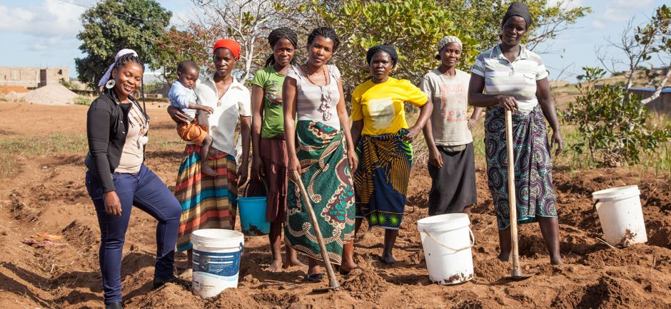 Machamba (huerta) de la Fundación Khanimambo