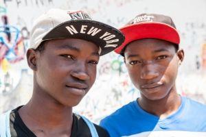 Ahijados adolescentes en la Fundaciçon Khanimambo