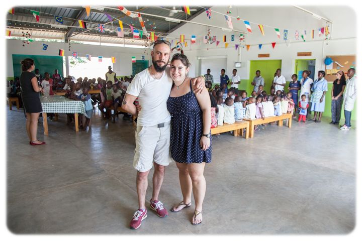 Marcel y Georgina en la Fundación Khanimambo