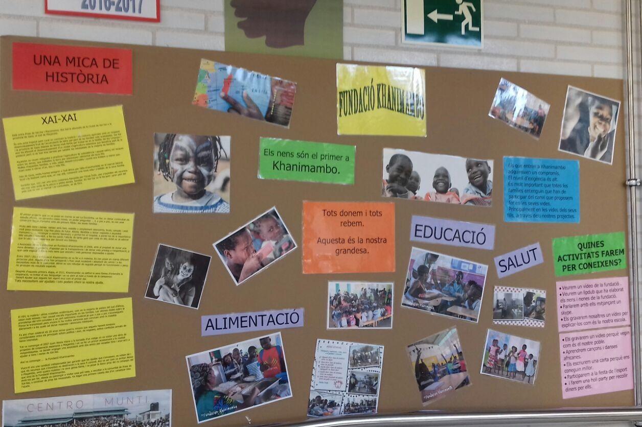 Escola Les Mimoses col·labora amb la Fundación Khanimambo