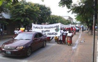 Trabajadores de la Fundación Khanimambo celebrando el Día del Trabajador