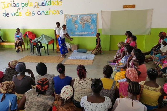 Sensiblización en el Centro Munti de la Fundación Khanimambo