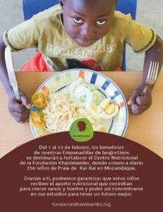 Empanadilla solidaria a favor de la Fundación Khanimambo del Restaurante 80 Grados