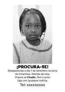 Cartel desaparición de Chadia