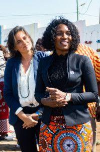 Gobernadora de la Provincia de Gaza en la Fundación Khanimambo