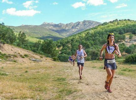 Cristina en una prueba de montaña