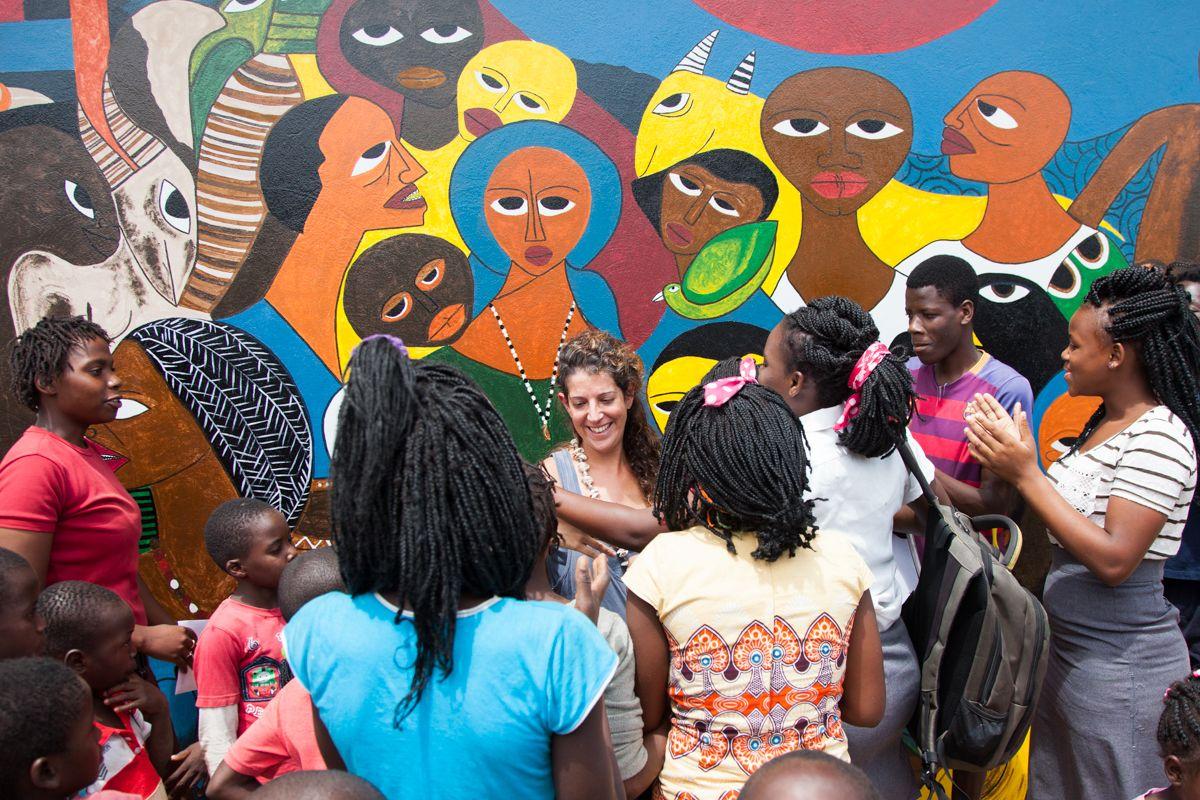 Esther Verdeguer en Fundación Khanimambo