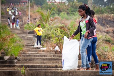 World CleanUp Day en Praia de Xai-Xai, Mozambique