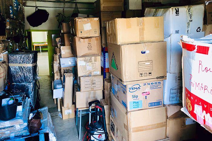 almacén de la Fundación Khanimambo