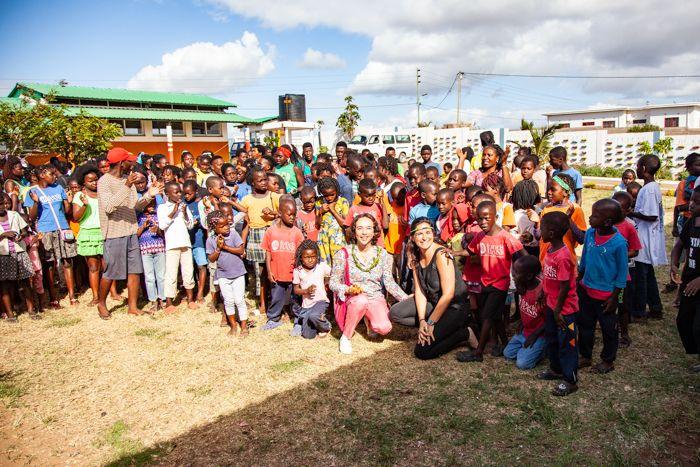Laura Aguilar, secretaria general de Khanimambo en el Centro Munti en Mozambique
