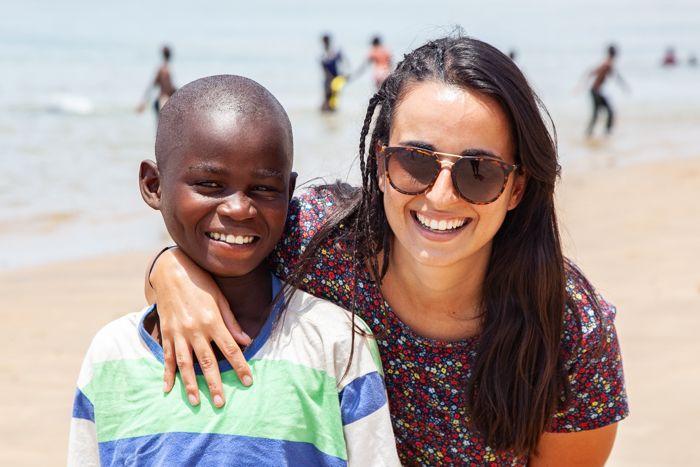 Belén, una madrina en Xai-Xai, con la Fundación Khanimambo