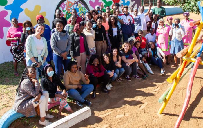 primeros voluntarios post covid en Khanimambo