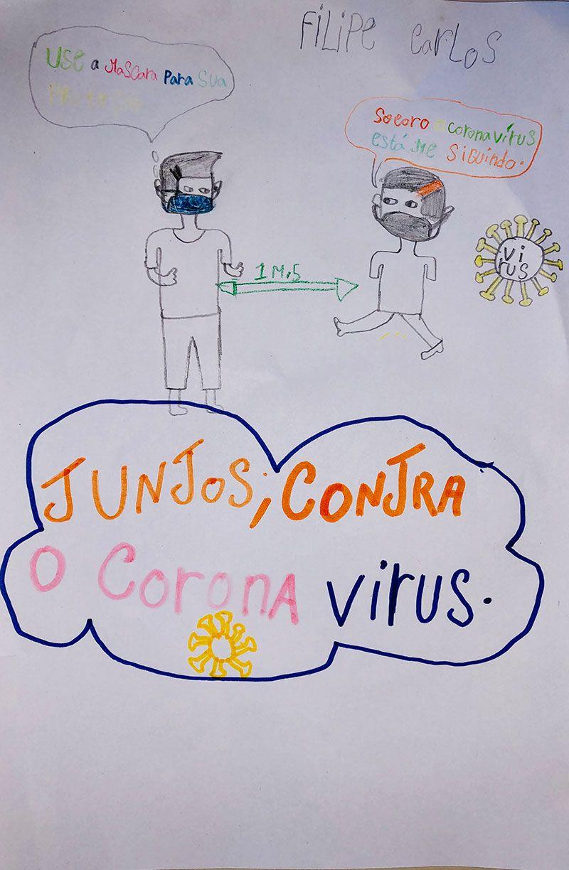 Los niños y niñas de la Fundación khanimambo dibujan el coronavirus