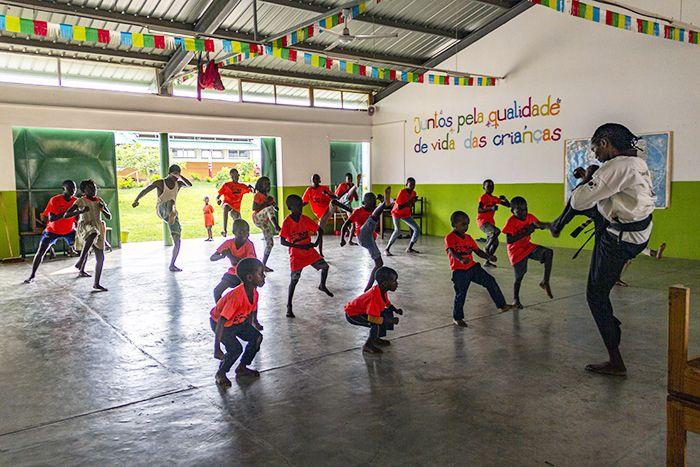 Talento de Karate en la Fundación Khanimambo