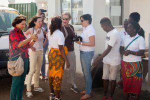 Una visita muy esperada - Llegada al Centro Munti de Khanimambo