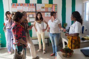 Una visita muy esperada - Visitando las instalaciones, el Centro de Salud de Khanimambo
