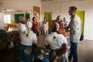 Visitando las instalaciones del Centro Nutricional de Khanimambo