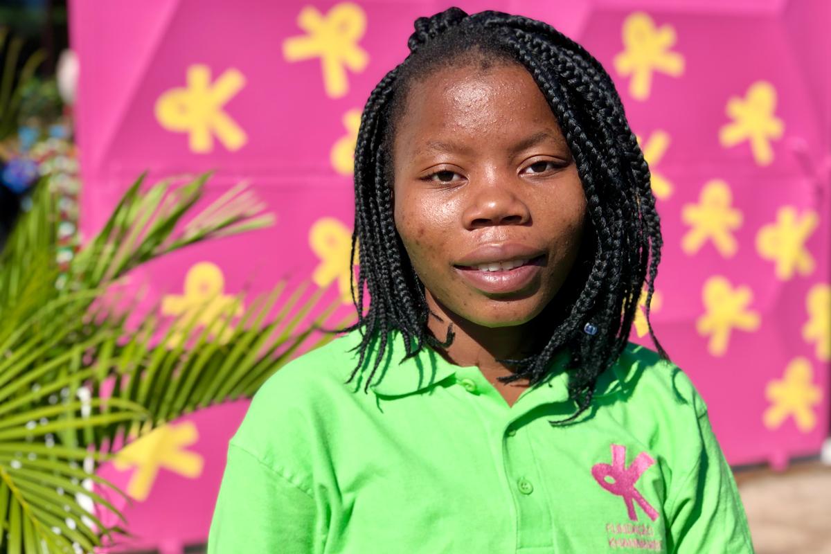 Luisa, da Fundaçã Khanimambo