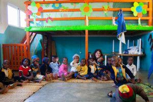 Inés Mena en el Centro Munti de la Fundación Khanimambo
