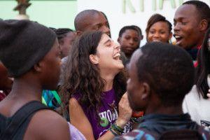 Inés Mena, voluntaria en el Centro Munti de la Fundación Khanimambo