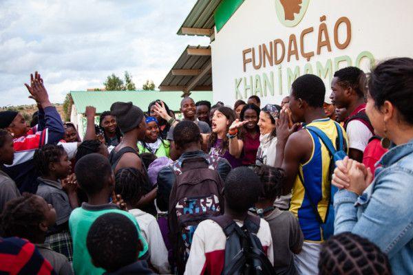 Inés Mena, voluntaria en el Cenro Munti de la Fundación Khanimambo