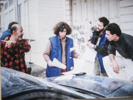 María Dolores en 1996 en una Misión de la UE para Palestina