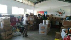 Contenedor de material donado a la Fundación Khanimambo