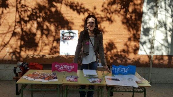Stand de la Fundación Khanimambo - Día solidario en el colegio BrotMadrid